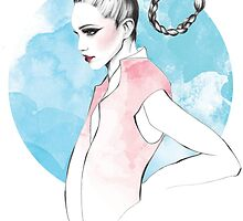 Scorpio Zodiac Fashion Illustration by LizzieBowen