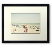 Summer Beach People Framed Print