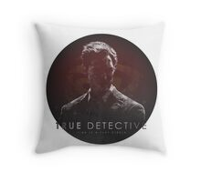 Time is a Flat Circle True Detective Throw Pillow