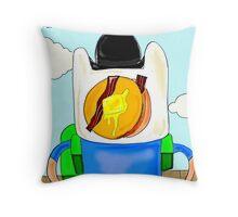 Son of Finn / Magritte Meets Adventure Time  Throw Pillow