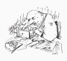 Mr Spam writes an e-mail by chrisbears