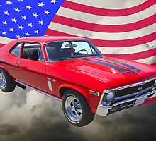 1969 Chevrolet Nova Yenko 427 With American Flag by KWJphotoart