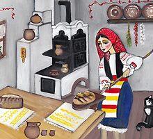 Folk art - Landlady by Marikohandemade