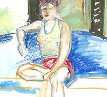 Girl at Oxy by joelkeyart