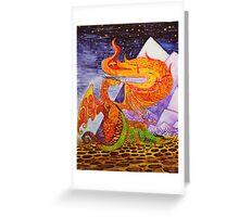 Klimt dragons Greeting Card