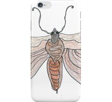 The Endangered Austyn Teal Moth (one-line #123) iPhone Case/Skin