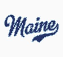 Maine Script Blue by Carolina Swagger
