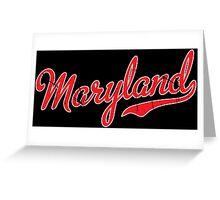 Maryland Script VINTAGE Red Greeting Card