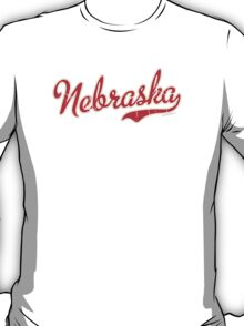 Nebraska Script VINTAGE Red T-Shirt