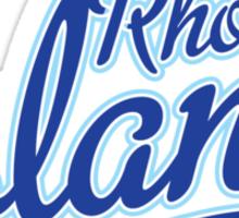 Rhode Island State Script Blue Sticker