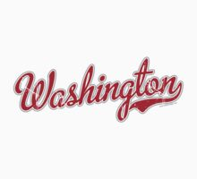 Washington Script VINTAGE Red by carolinaswagger