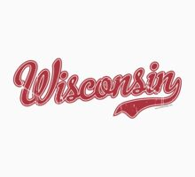 Wisconsin Script VINTAGE Red Kids Clothes