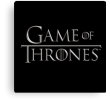 Game of Thrones Logo Canvas Print