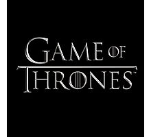 Game of Thrones Logo Photographic Print