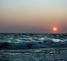 Splashing waves by Janet Gosselin