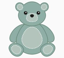 Cartoon Bear Sticker for Teal Nursery or Baby Crafts by StickerStore
