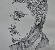 James Joyce - Portrait of the Irish Writer  by Katie  McNeice