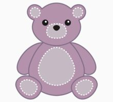 Purple Teddy Bear Sticker for Animal Crafts, Babies, Kids by StickerStore