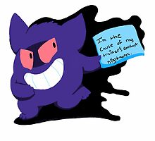 PokeShaming Gengar by CinnamonMuffins