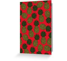 Pineapple - Red Greeting Card