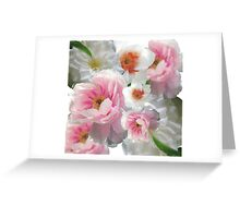 Floral montage Greeting Card