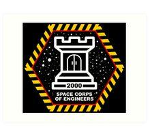 Space Cops of Engineers Art Print