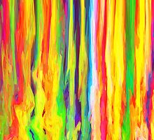 Colourful Dripping Paint Streaks by bexilla
