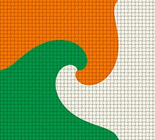 Tricolor Woven Waves by Digitarts