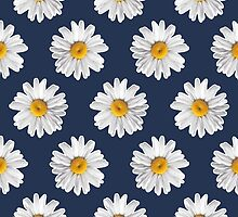 Daisy Blues #2 - Daisy Pattern on Navy by Tangerine-Tane