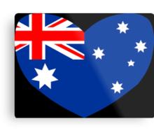 Heart Shaped Australian Flag Metal Print