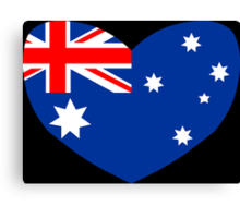 Heart Shaped Australian Flag Canvas Print