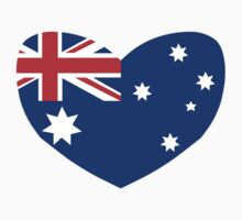 Heart Shaped Australian Flag by sweetsixty