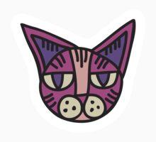 Cat Head Illustration - Sticker 2 by serkorkin