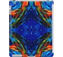 Colorful Blue Abstract - Peace With The Past by Sharon Cummings iPad Case/Skin