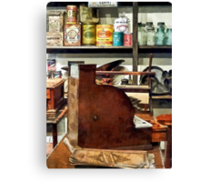 Wooden Cash Register in General Store Canvas Print