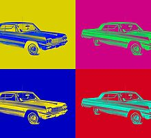 1964 Chevrolet Impala Muscle Car Pop Art by KWJphotoart