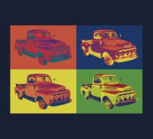 1951 ford F-1 Pickup Truck Pop Art Kids Clothes