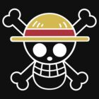 One Piece - Jolly Roger Transparent White by elyosz