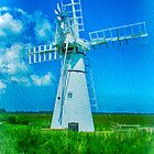 Thurne Dyke Mill Textured by Chris Thaxter