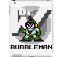 Bubbleman with text (Black) iPad Case/Skin