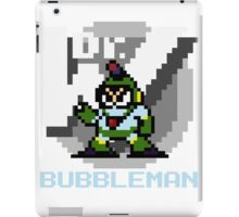 Bubbleman with text (Blue) iPad Case/Skin