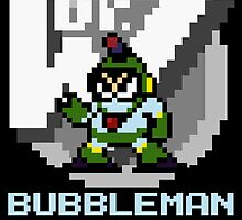 Bubbleman with text (Blue) by Funkymunkey