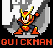 Quickman with text (Red) by Funkymunkey
