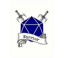 Warrior Dungeons and Dragons Art Print