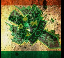 Distressed Irish Flag/Celtic Cross iPhone Case by HTCwrestling