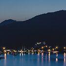 Dubrovnik Night Coast by Matti Ollikainen