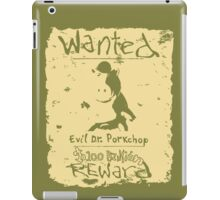Wanted - Evil Dr. Porkchop iPad Case/Skin