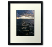 Majestic Rays on the Lake Framed Print
