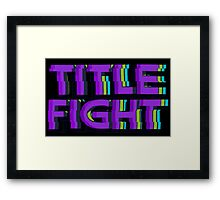 VHS Title Fight Framed Print