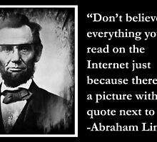 Don't believe everything you read on the Internet by DrLukeSkywalker
